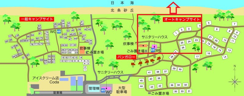 北条オートキャンプ場-auto-Map