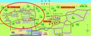 案内地図 一般キャンプ位置