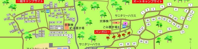 北条オートキャンプ場 案内地図